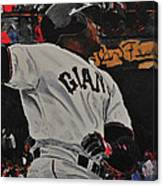 Barry Bonds World Record Breaking Home Run Canvas Print
