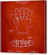 Baseball Glove Patent Drawing From 1922 Canvas Print