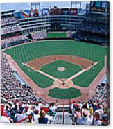 Baseball Stadium, Texas Rangers V Canvas Print