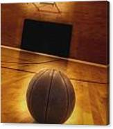 Basketball And Basketball Court Canvas Print