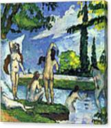 Bathers By Cezanne Canvas Print