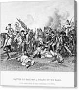 Battle Of Camden, 1780 Canvas Print