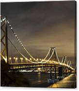Bay Bridge From Treasure Island Canvas Print