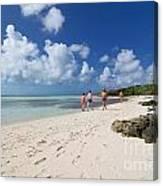 Beach At Coco Cay Canvas Print