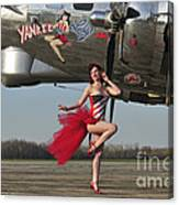 Beautiful 1940s Style Pin-up Girl Canvas Print