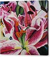 Becky's Lilies Canvas Print
