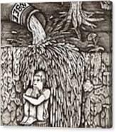 Beer Falls Canvas Print