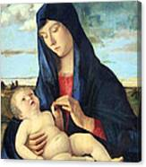 Bellini's Madonna And Child In A Landscape Canvas Print