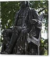 Benjamin Franklin Statue University Of Pennsylvania Canvas Print