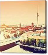 Berlin Germany View On Major Landmarks Canvas Print
