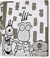 Berlin Wall Avatars Canvas Print