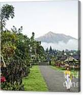 Besakih Temple And Mount Agung View In Bali Indonesia Canvas Print
