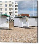 Bexhill Beach Huts Canvas Print