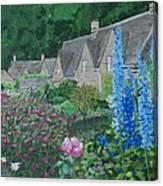Bibury Gardens Canvas Print