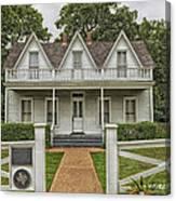 Birth Home Of Dwight D Eisenhower - Denison Texas Canvas Print
