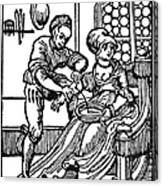 Bloodletting, 16th Century Canvas Print