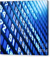 Blue Flight Board Canvas Print