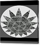 Bnw Black N White Star Ufo Art  Sprinkled Crystal Stone Graphic Decorations Navinjoshi  Rights Manag Canvas Print