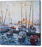 Boats In Rhodes Greece  Canvas Print