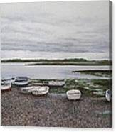 Boats On The Estuary Canvas Print
