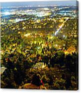 Boulder Colorado City Lights Panorama Canvas Print