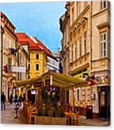 Bratislava Old Town Canvas Print