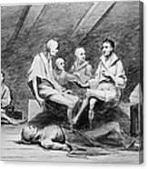 British Prison Ship, 1770s Canvas Print