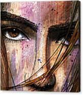 Brown Iris Entangled Canvas Print
