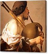 Brugghen's Bagpiper Player Canvas Print