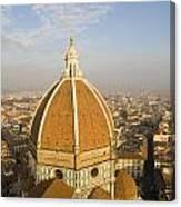 Brunelleschi's Dome At The Basilica Di Santa Maria Del Fiore Canvas Print