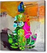 Buddah On A Lotus Canvas Print