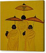 Buddha Monks Canvas Print