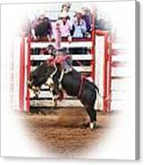 Bull Riding Canvas Print
