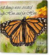 Butterfly Scripture Canvas Print