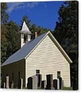 Cades Cove Primitive Baptist Church Canvas Print