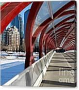 Calgary Peace Bridge Canvas Print