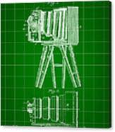 Camera Patent 1885 - Green Canvas Print