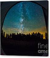 Camping Under The Stars Canvas Print