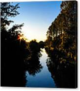 Canal Sunset Canvas Print