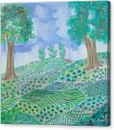 Caribbean Mountain Canvas Print