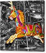 Carousel In Bournemouth Canvas Print