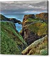 Carrick-a-rede Rope Bridge Canvas Print