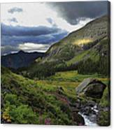 Cascade In Lower Ice Lake Basin Canvas Print