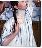 Cassatt's Girl Arranging Her Hair Canvas Print