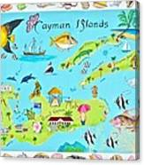 Cayman Islands Canvas Print