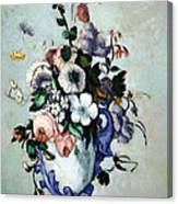 Cezanne's Flowers In A Rococo Vase Canvas Print