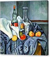 Cezanne's The Peppermint Bottle Canvas Print