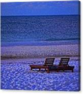 2 Chairs On A Blue Morning  Canvas Print
