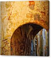 Chania Alley Canvas Print