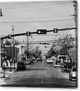 chaplin street main street through swift current Saskatchewan Canada Canvas Print